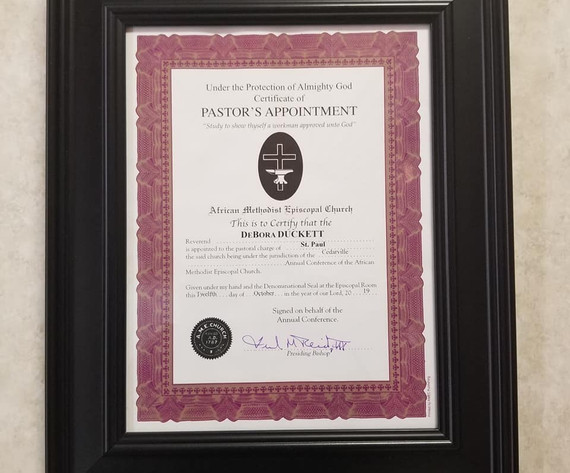 Pastoral Appointment from Bishop Frank Madison Reid, III