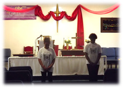 St. Paul Angels prepare for worship.