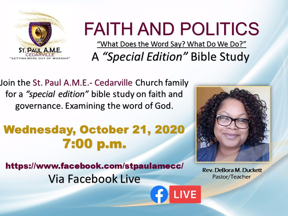 Faith and Politics Bible Study