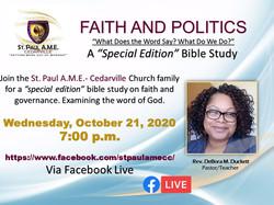 Faith and Politics Bible Study