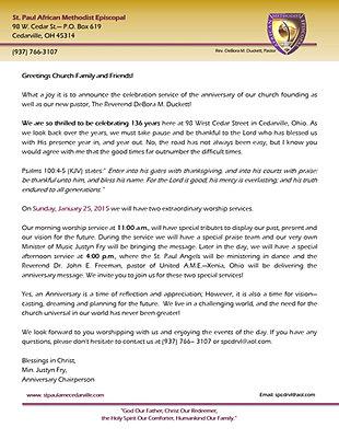 st paul anniversary letter