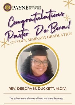 Congratulations Pastor DeBora