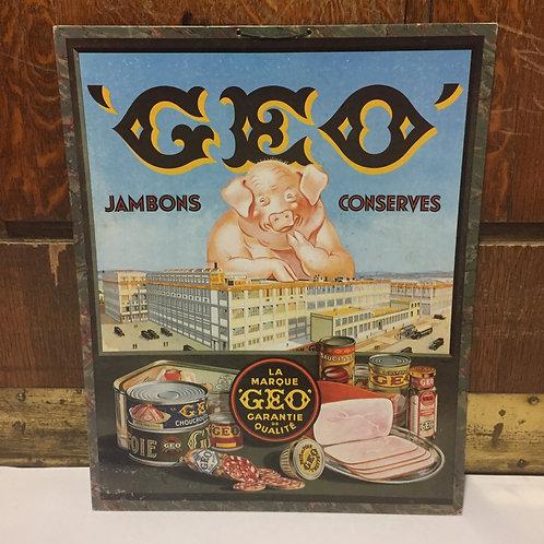Carton publicitaire GEO