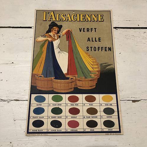Carton publicitaire l'Alsacienne