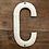 Thumbnail: Lettre émaillée C