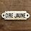 Thumbnail: Plaque émaillée Cire Jaune