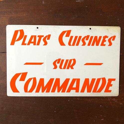 Pancarte Plats Cuisinés