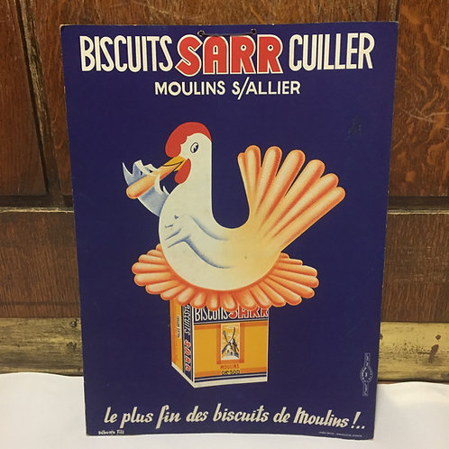 Carton publicitaire biscuits