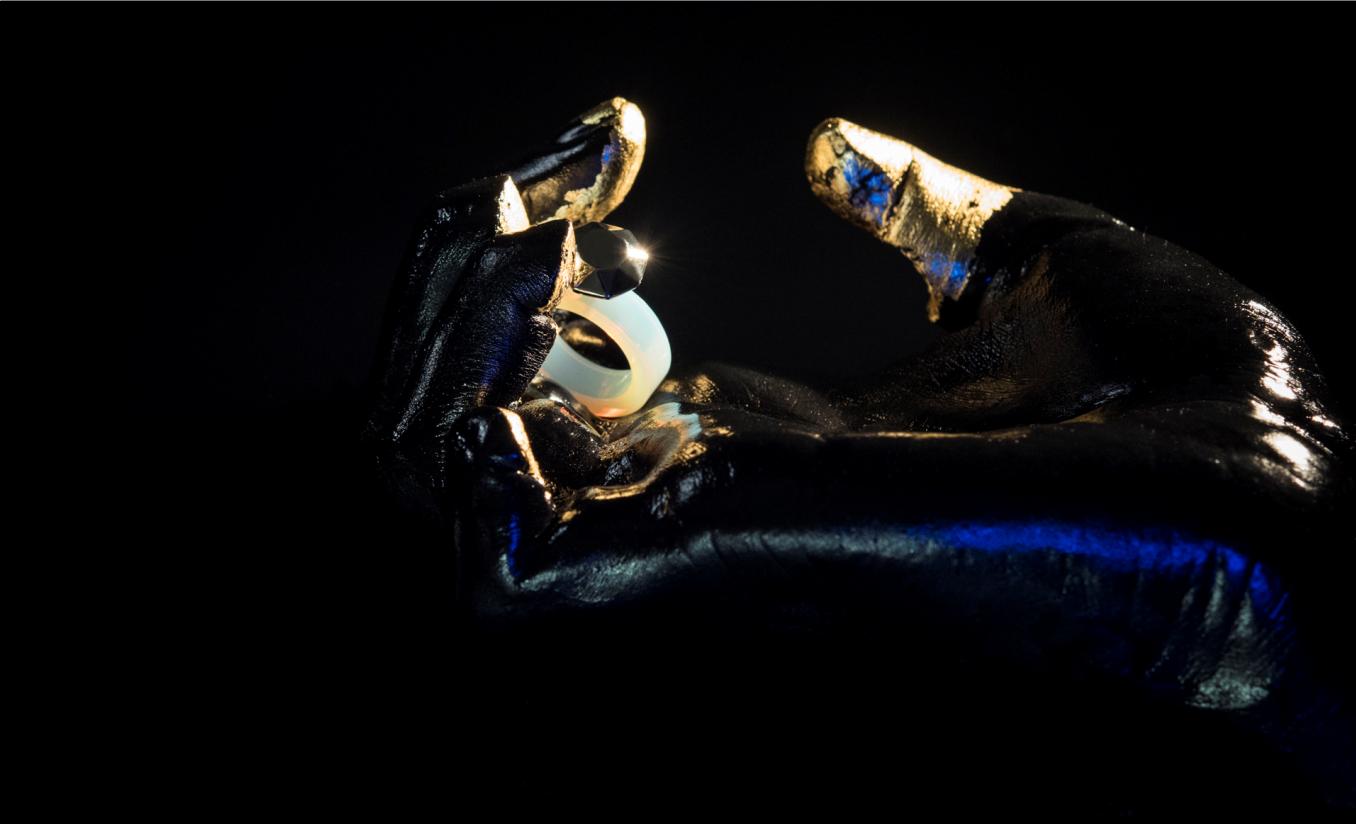 Ring [reversed]|[white opal] ring