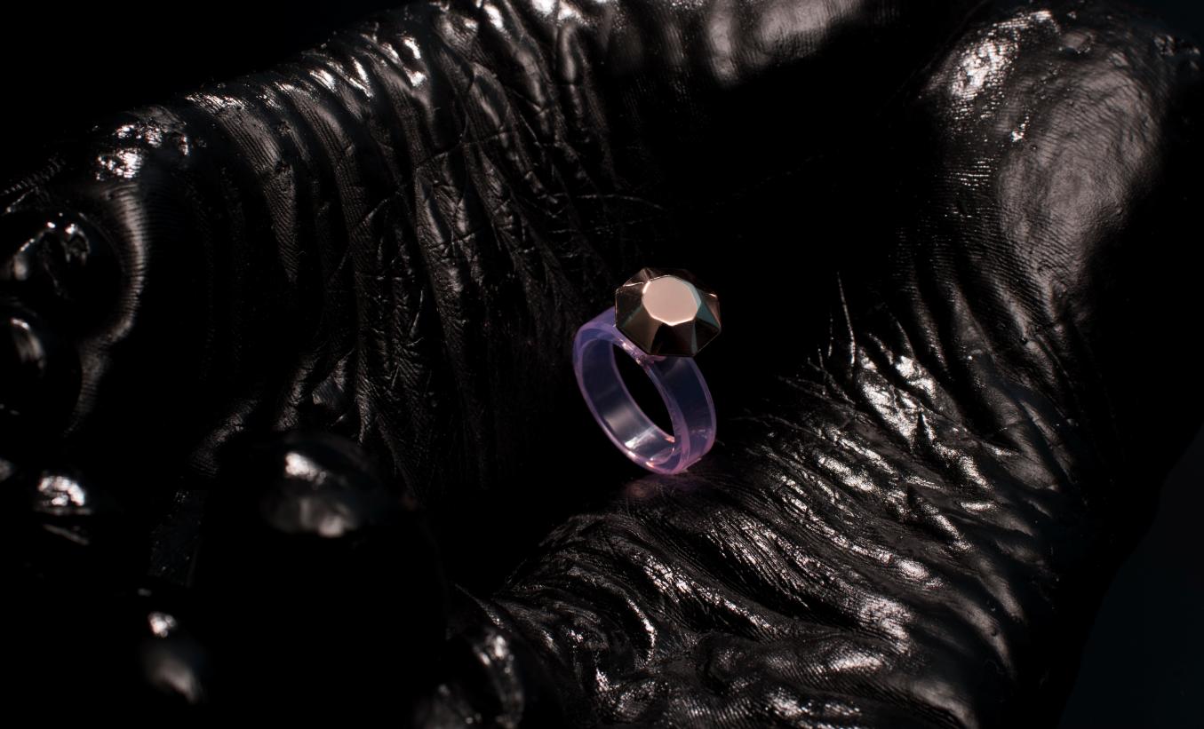 Ring [reversed]|[pink opal] ring