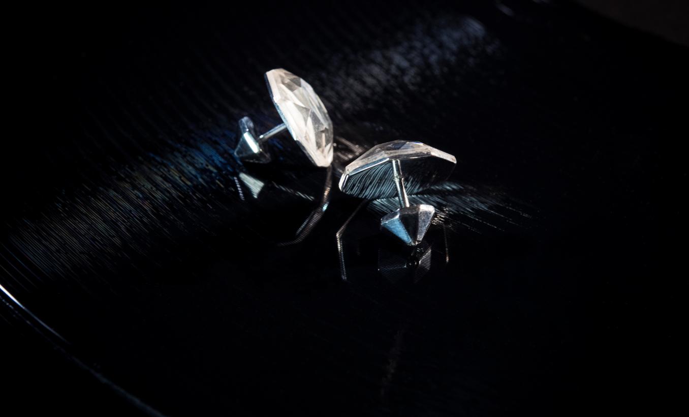 diamond [plug] earrings