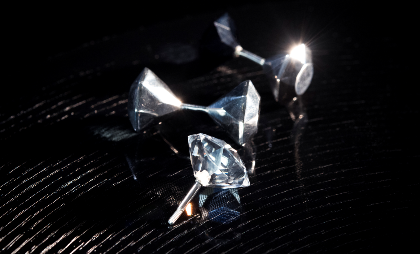 conjoined [twin diamond] earrings