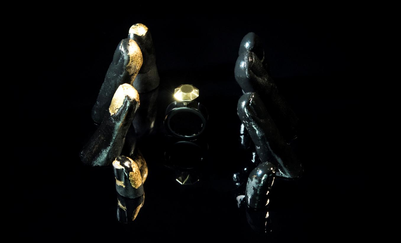 Ring [reversed]|[black diamond] ring