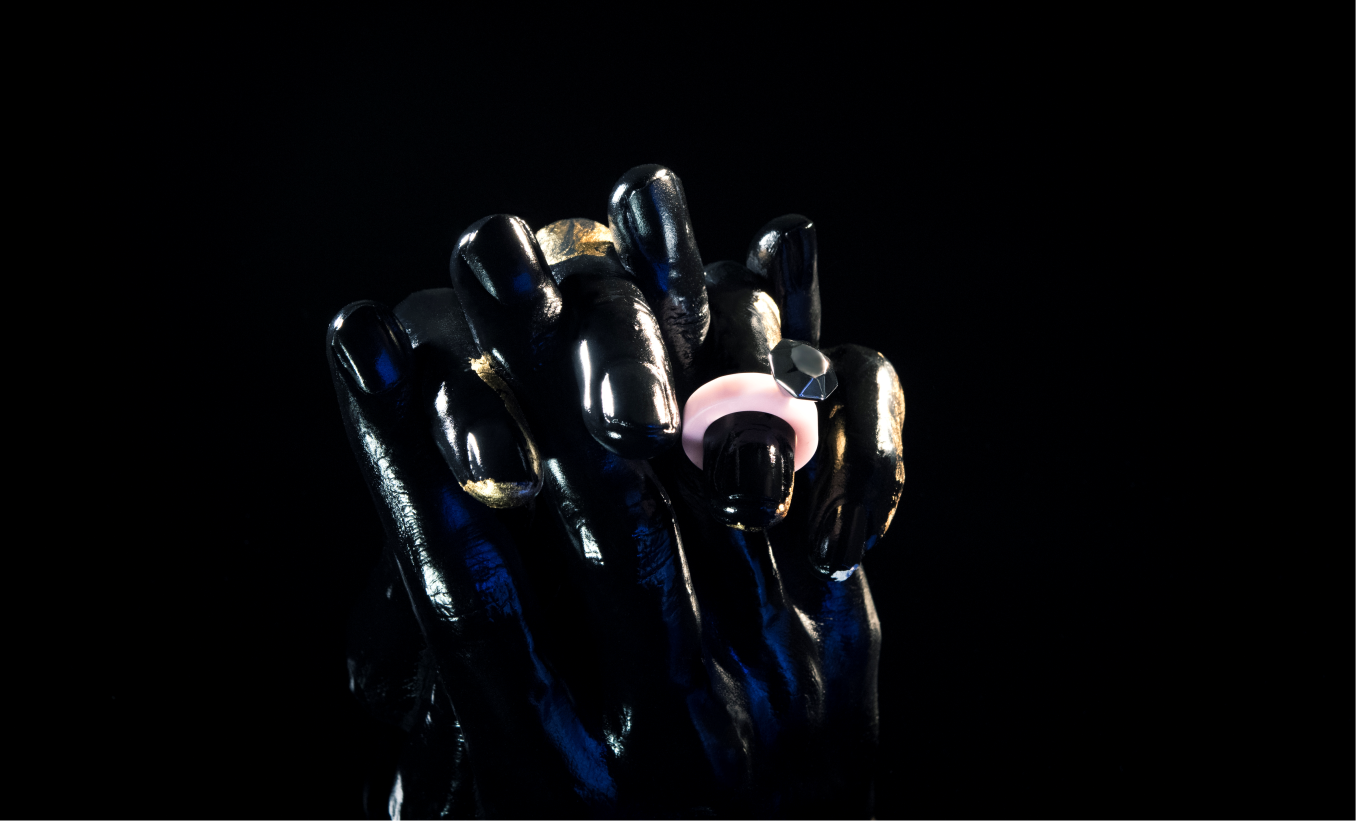 [milky pink opal] ring