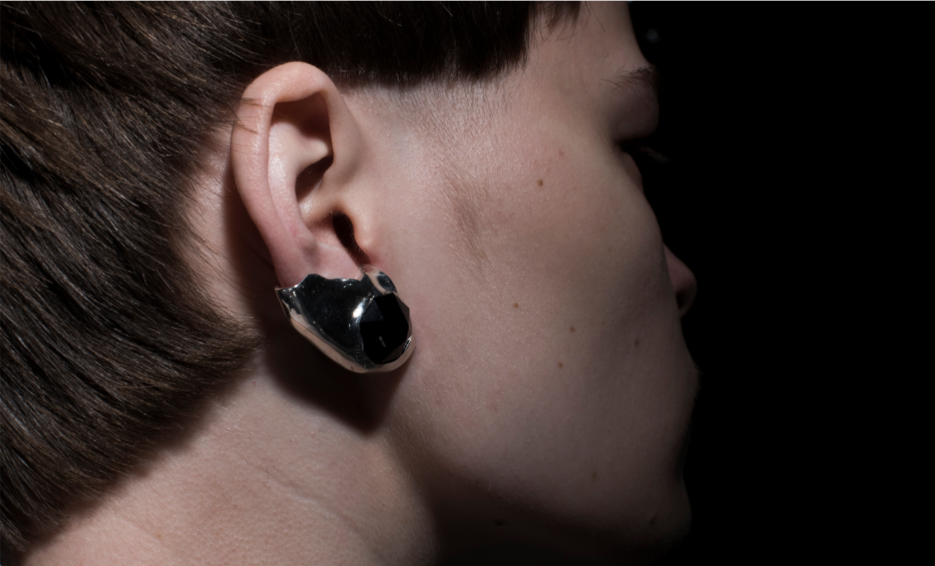 [prosthetic lobes] diamond earrings