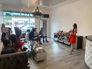 Valeria Sweet hosting a workshop on mani