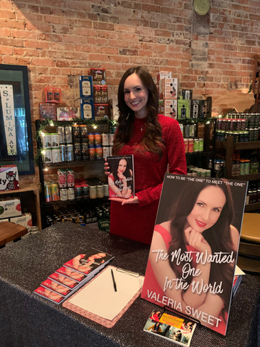 """Valeria Sweet at book signing for """"The M"""