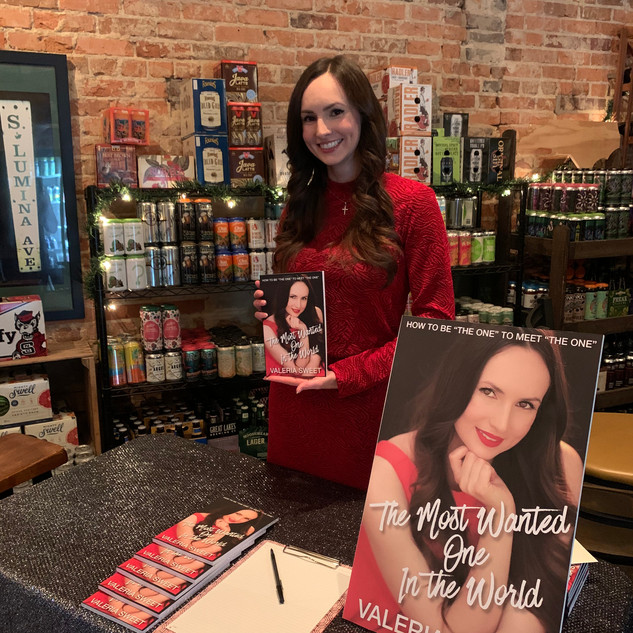 Valeria Sweet at book signing for _The M