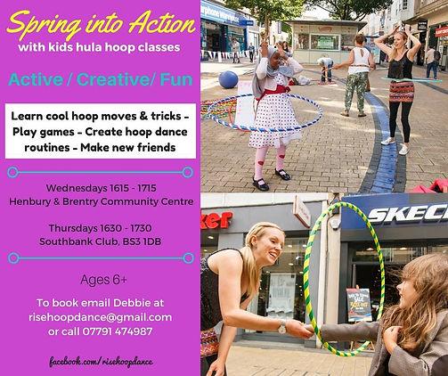 Rise Hoop Dance Bristol hula hooping classes for kids