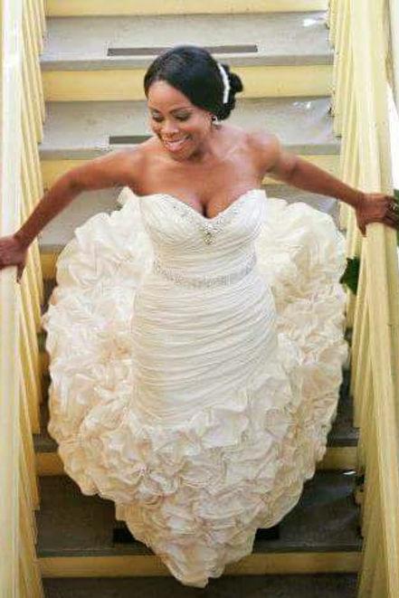 crystal wedding bouqet