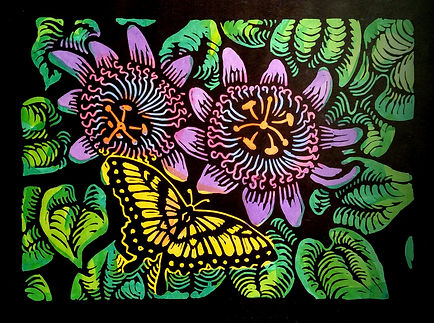 Swallowtail Butterfly and Passion Flower