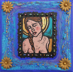 """""""Angel in Turquoise - Mixed Media"""""""