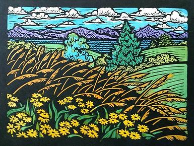 Beautiful Field I - Yellow Flowers - 10