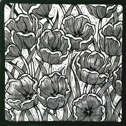 Tulips - BW - 650 dpi