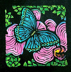 Blue Butterfly on Orchid - print only.jp