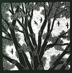 Birds and Tree - BW - 650 dpi