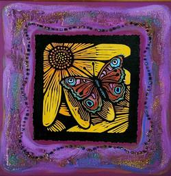 """Brown Moth on Yellow Flower"""