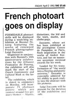 News Strait Times 3/04/93 Malaisie