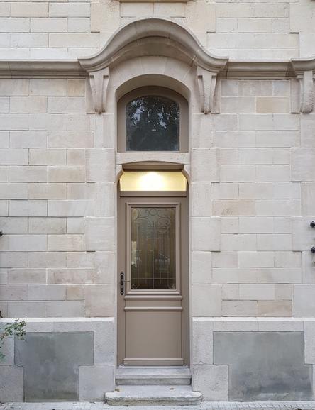 Porte d'entrée bois Bel'm, modèle Estampe