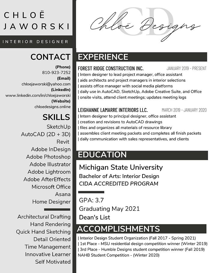Chloe Jaworski Professional Resume.png