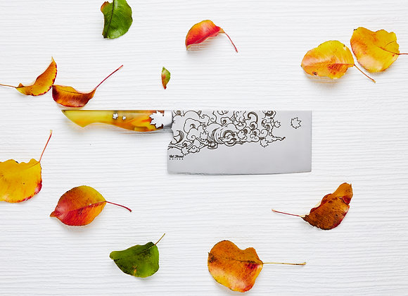 Last Leaves of Autumn - Chinese Cleaver 2