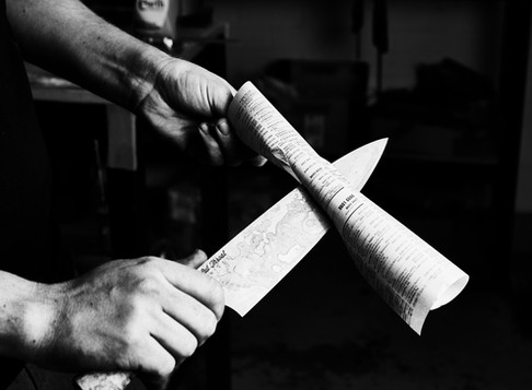What makes a sharp knife cut