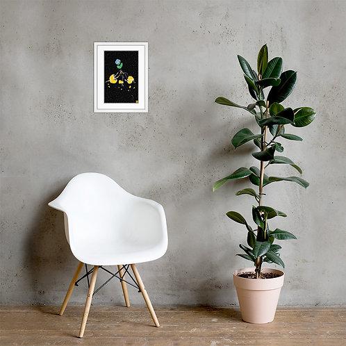 """""""Sunplant eat World"""" Framed poster"""