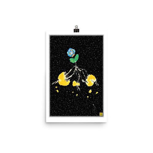 """Sunplant eat World"" Photo paper poster"