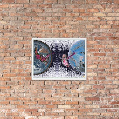 """""""holdON"""" Framed poster"""