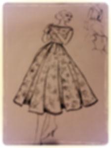 Bridesmaid dress design sketch