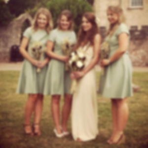 Green boho bridesmaid dresses