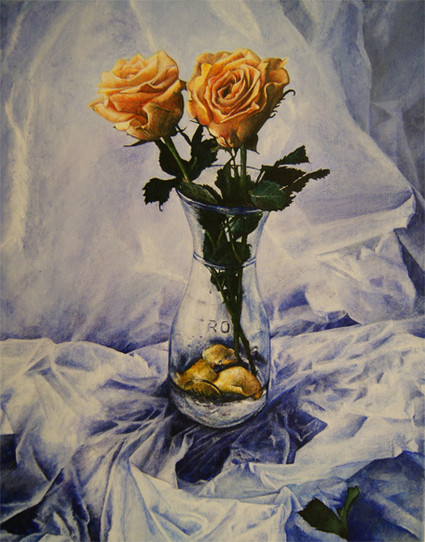 Roses with Vase