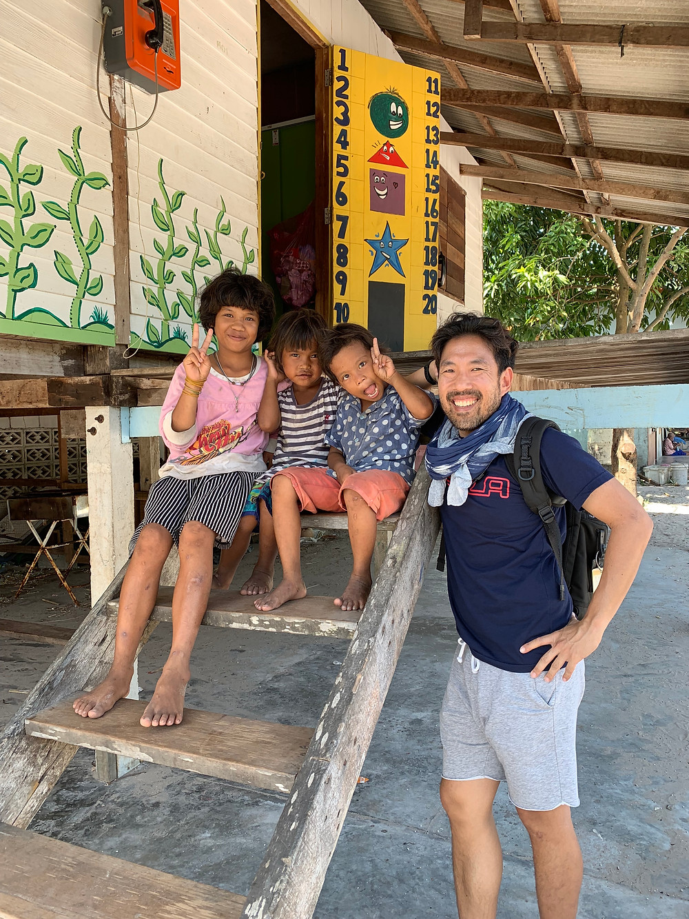 Me with the Moken Village children in Koh Phayam, Ranong, January 2019