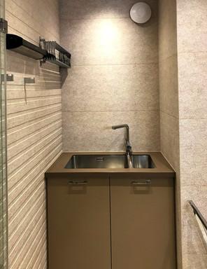 písečná koupelna s prádelním koutem (kri