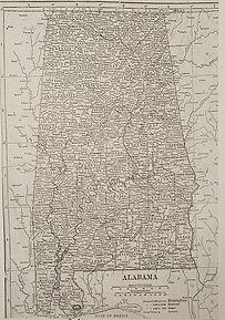 Historic Map of Alabama
