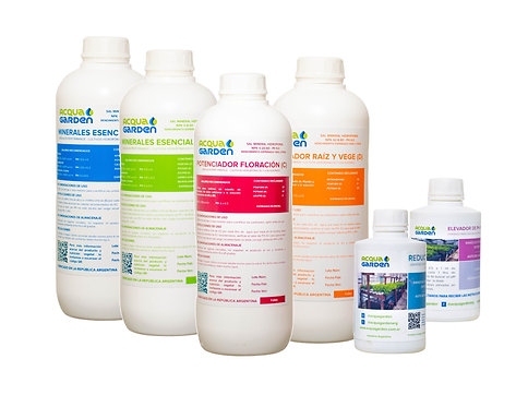 Kit Sales minerales ABCD + Regulador de PH