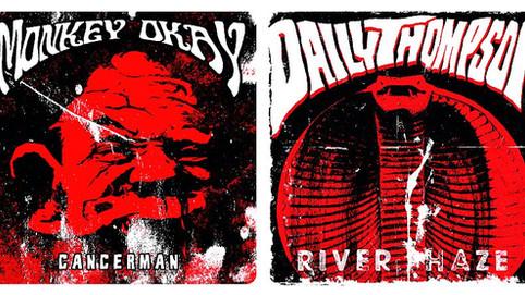 """Artwork of new Monkey Okay/Daily Thompson Split-7"""" revealed"""