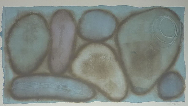 pebbles image size 32 x 61.5 cm framed s