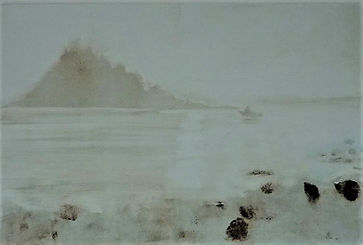 sea mist 28 x 42 cm framed size 44 x 57