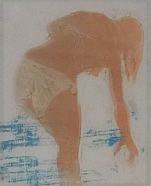 woman paddling in the sea 10.5 x 13 cm.j